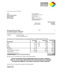 Stadtwerke Haiger Rechnungserklärung